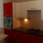 Czerwone meble kuchenne