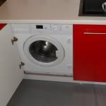Czerwone meble kuchenne lakierowane, biało czerwona kuchnia w bloku, meble lakierowane czerwone Warszawa