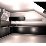 kuchnie wenge, projekt kuchni galeria, projekt kuchni na poddaszu