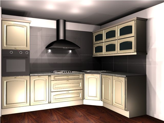 Meble Stylizowane Projekt Meble Kuchenne Z Litego Drewna Meble
