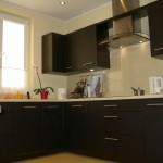 Projekt mebli kuchennych, mała czarna kuchnia, najnowsze meble kuchenne