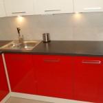 nowoczesne meble kuchenne lakierowane, meble kuchenne lakierowane czerwone
