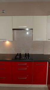 realizacja zabudowy kuchennej lakierowanej Warszawa, galeria zdjęć,  kuchnia biało czerwona,