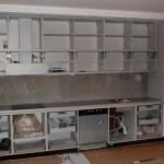 Nowoczesna zabudowa kuchenna lakierowana, kuchnie czarno białe, kuchnie czarno białe Warszawa,