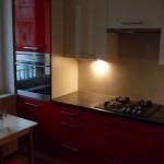 meble kuchenne czerwone Warszawa, meble kuchenne lakierowane czerwone, czerwone meble do kuchni