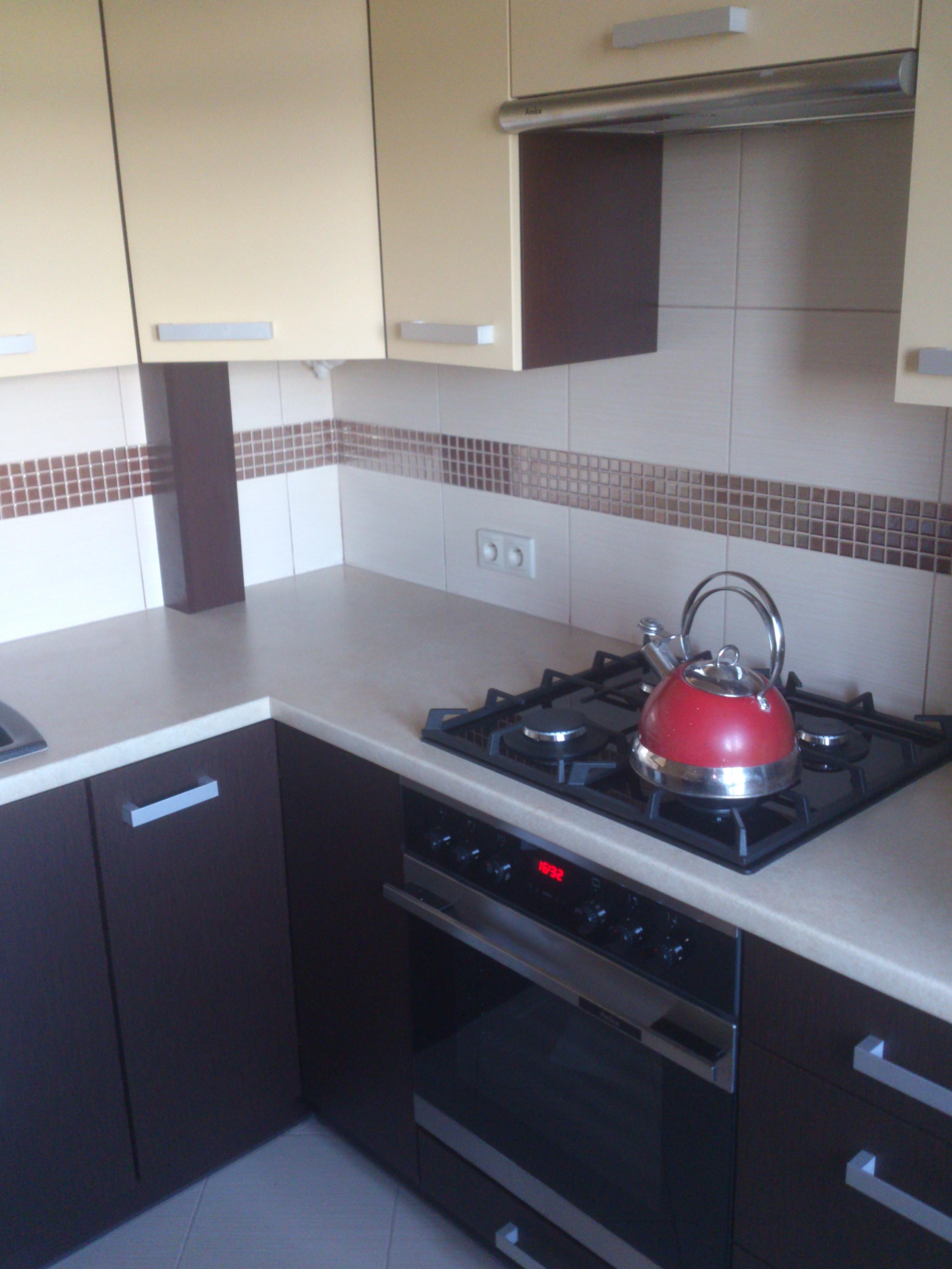 Mała kuchnia w bloku i zabudowa przedpokoju -> Mala Kuchnia W U